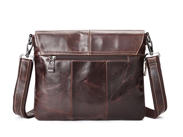 Mặt sau túi xách da nam công sở đựng iPad , tài liệu 011