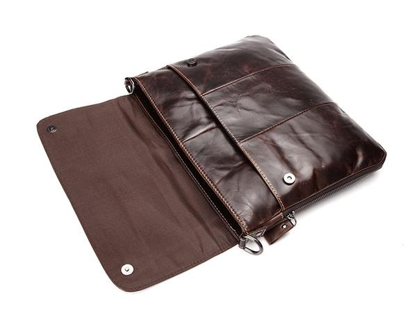 Nắp đậy an toàn bên trên túi xách da nam đựng iPad 011