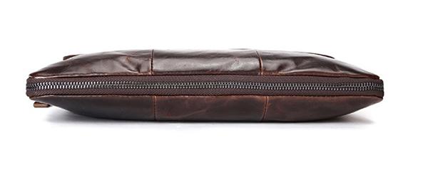 Túi xách da thật cho nam 011 được trang bị khóa kéo mở rộng ở thân