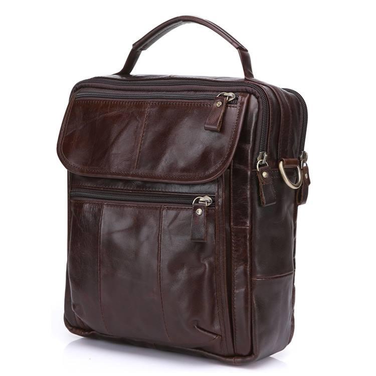 Túi đeo chéo nam da thật giá rẻ có quai xách tay KT41 nâu