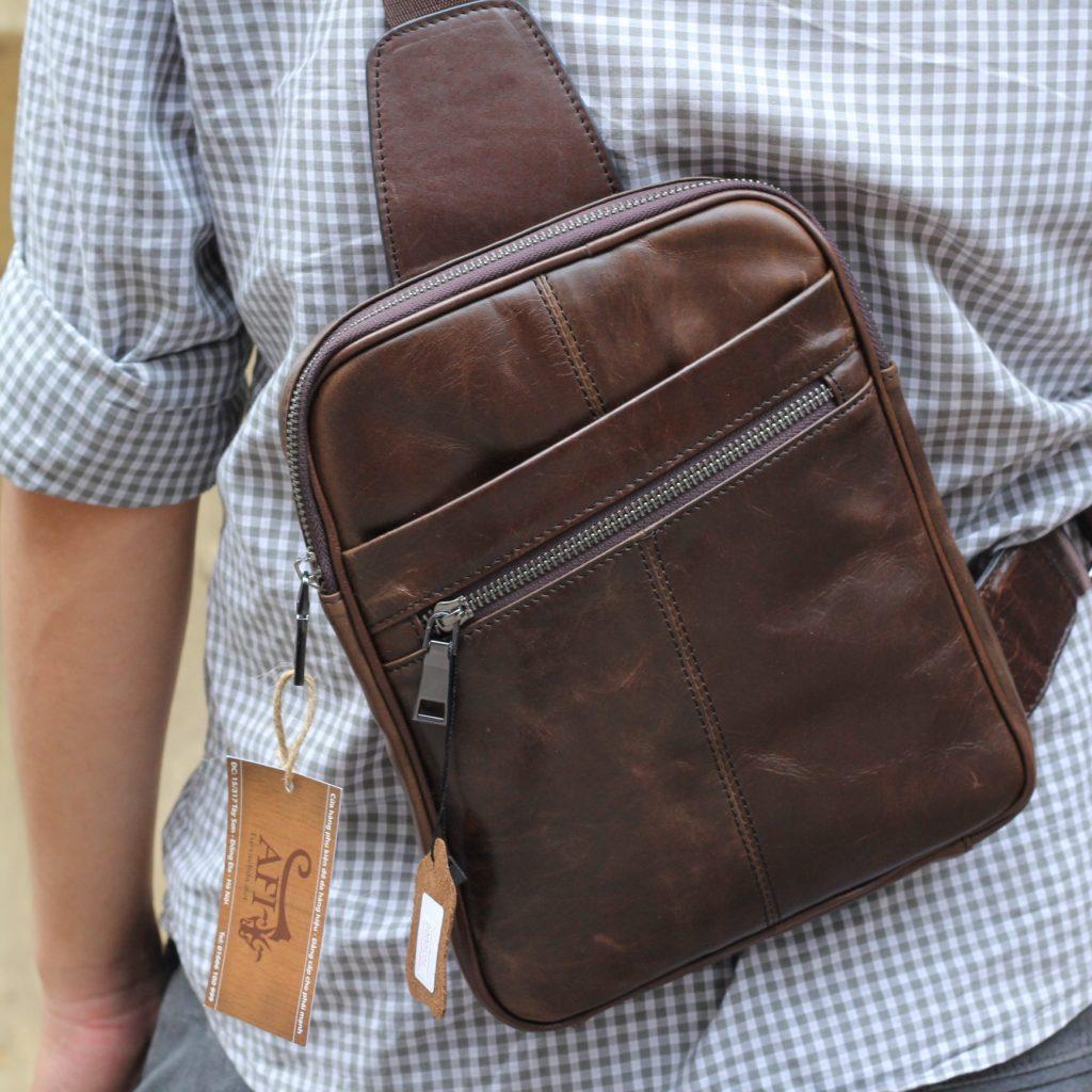 Hình ảnh khác túi đeo ngực da thật TDL08