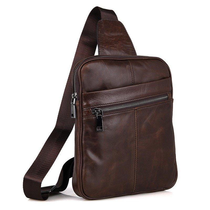 Túi đeo ngực nam thời trang da thật siêu mỏng tdl08