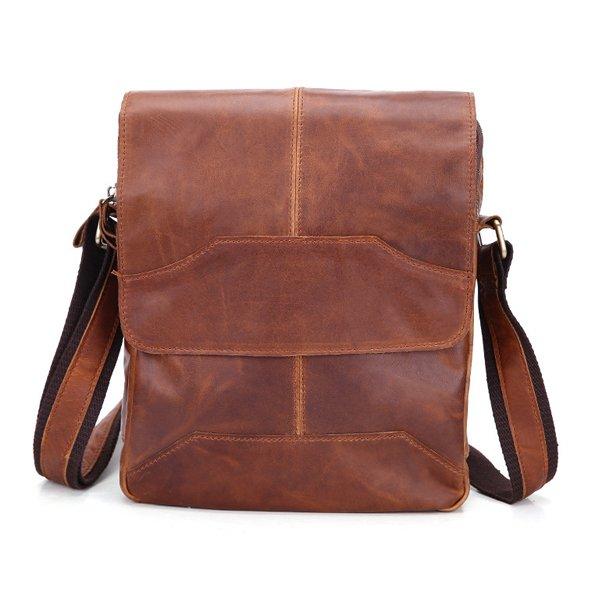 Túi xách nam đeo chéo da bò thật dạng hộp 2017 KT42