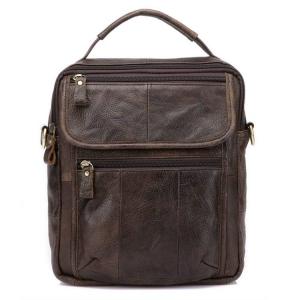 Túi đeo chéo nam da thật giá rẻ có quai xách tay KT41