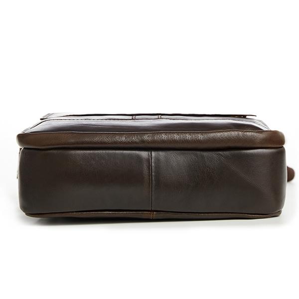 Túi xách nam da bò nguyên miếng dặn hộp đeo chéo KT52 đáy túi