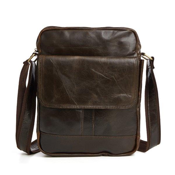 Túi xách nam da bò nguyên miếng dạng hộp đeo chéo KT52