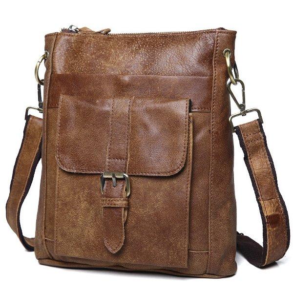 Túi đeo chéo nam da thật thời trang siêu mỏng KT42M
