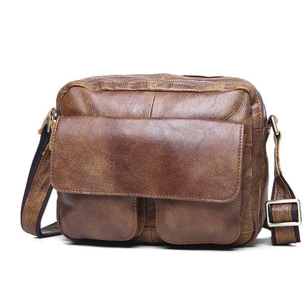 Túi ngang đựng iPad da bò miếng giá rẻ KT48