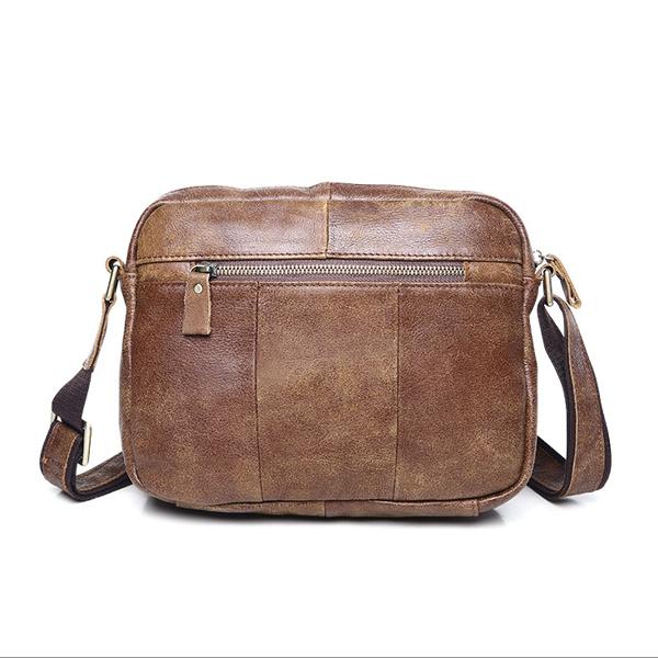 Túi ngang đựng iPad da bò miếng giá rẻ KT48 mặt sau