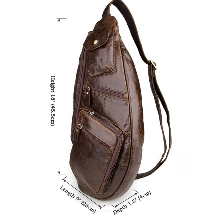 Túi đeo ngực nam da thật thời trang sang trọng TDL18