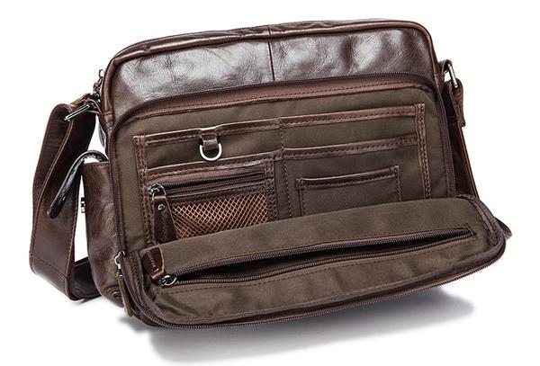 Túi xách nam da bò đựng iPad, tài liệu A4 KT53 ngăn đựng phía trước